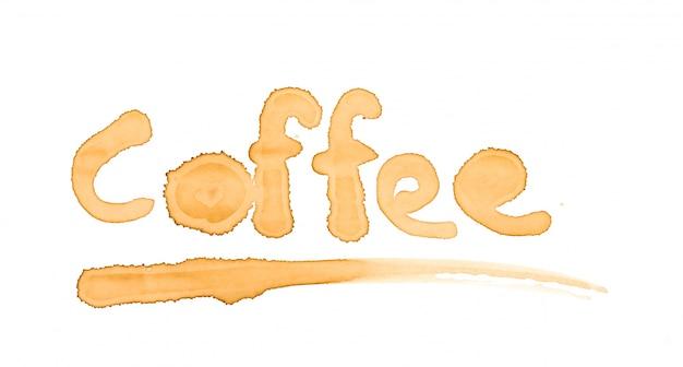 Plamy kawy słowo