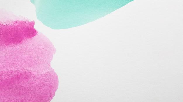 Plamy ręcznie malowane w odcieniach fioletu i błękitu