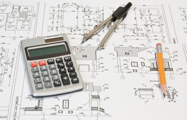 Plan architekta na kartce papieru