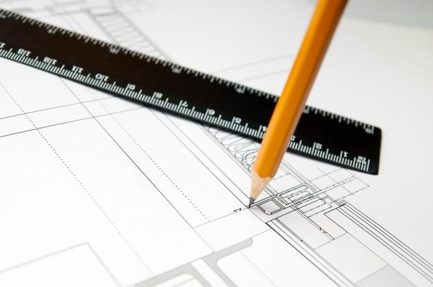 Plan budowy. koncepcja architekta
