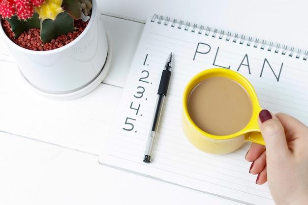 Plan napisów w notatniku
