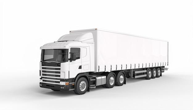 Plandeka ciężarówki biały kolor 3d odpłaca się.