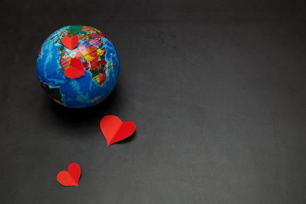 Planeta miłości koncepcja walentynki