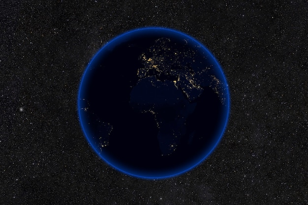 Planeta ziemia nocą