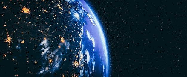 Planeta ziemia widok globu z kosmosu