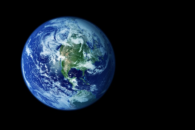 Planeta ziemia z kosmosu. elementy tego obrazu dostarczyła nasa. zdjęcie wysokiej jakości
