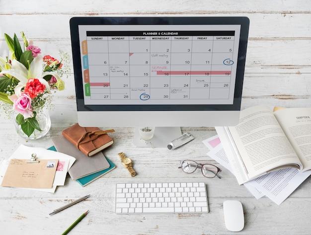 Planowanie kalendarza harmonogramu daty koncepcji