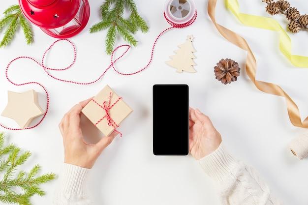 Planowanie świąt, koncepcja zakupów online