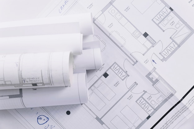 Plany budynków w zbliżeniu