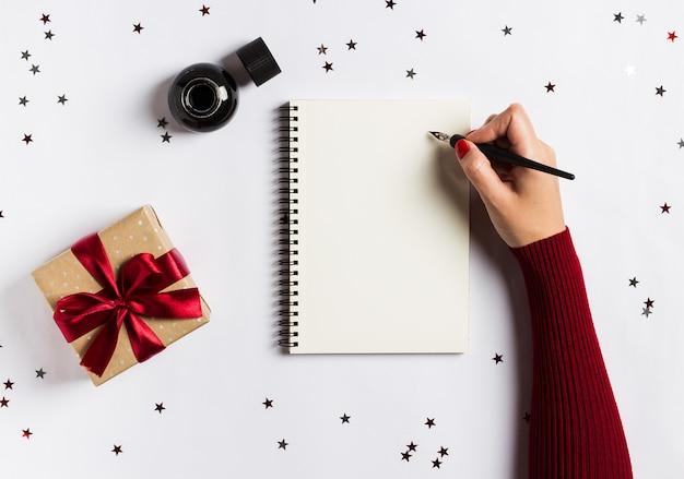 Plany celów marzenia zrobić listę do nowego roku koncepcji pisania świątecznych