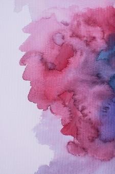 Płaska farba akwarelowa na papierze