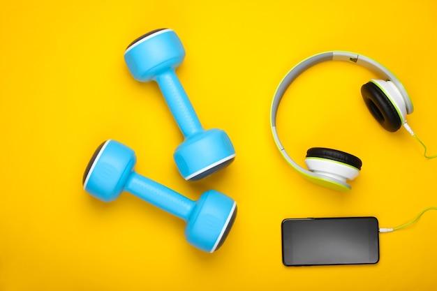 Płaska kompozycja sportowa i fitness