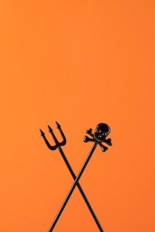 Płaska kompozycja świeckich kreatywnych elementów halloween