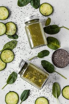Płaska kompozycja zdrowej żywności dla wzmocnienia odporności