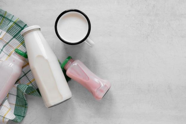 Płaska konstrukcja ramy produktów mlecznych