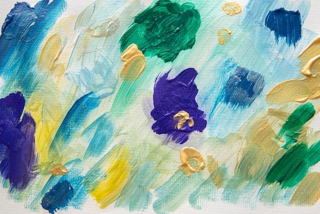 Płaska tapeta z farbą akrylową