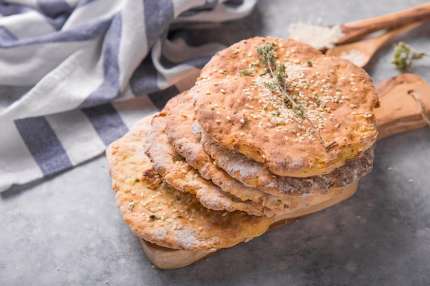 Płaski chleb ziemniaczany to tradycyjne miękkie finowie