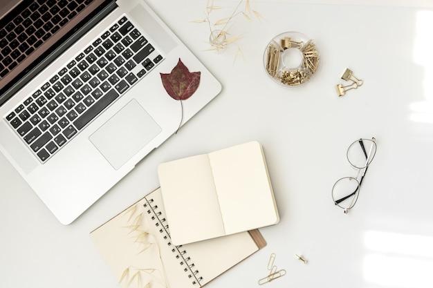 Płaski obszar roboczy blogera