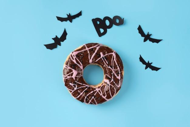 Płaski świecki kreatywny asortyment na halloween