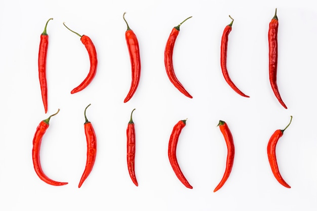 Płaski świecki meksykański skład żywności z chilis