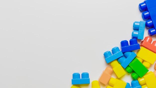 Płaski świeckich skład zabawek z copyspace