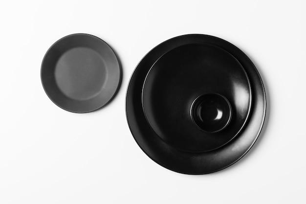 Płaski układ czarnych płyt