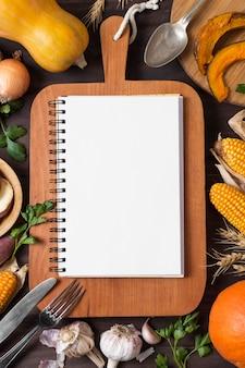 Płaski układ jesiennych zbiorów