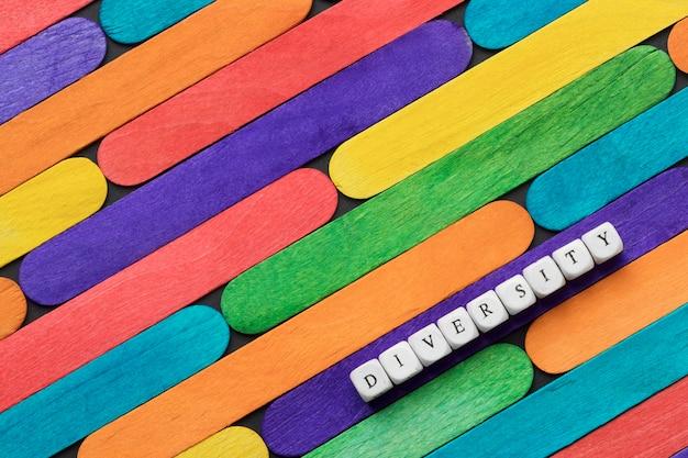 Płaski układ kolorowych lodów