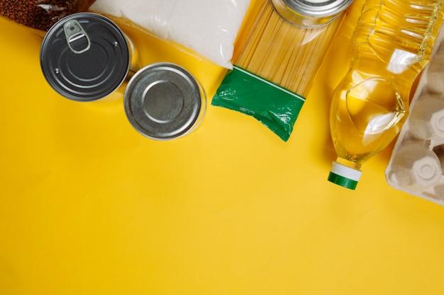 Płaski układ kryzysu zaopatrzenia w żywność na okres izolacji kwarantanny.