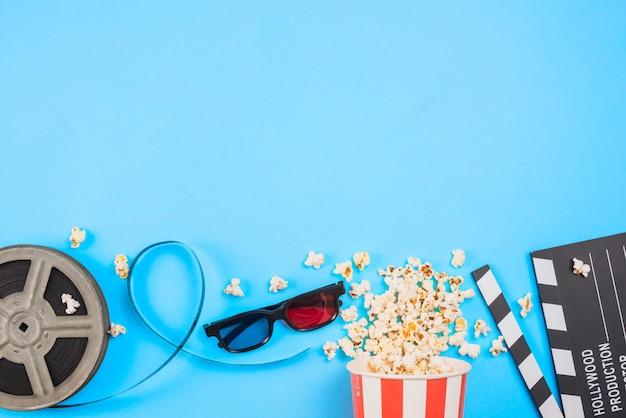 Płaski układ obiektów kinowych
