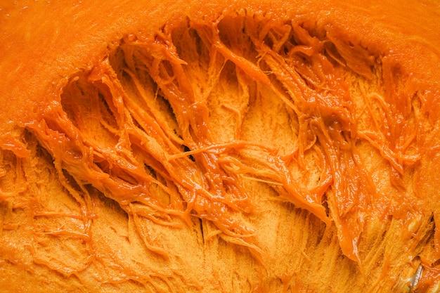 Płaskie świeckie wnętrze dyni tło