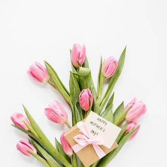 Płaskie tulipany i obecny układ