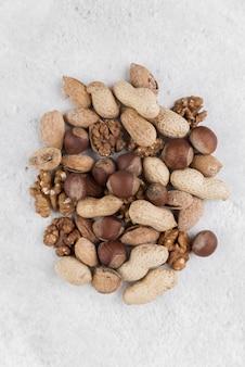 Płaskie ukształtowanie koncepcji chesnuts