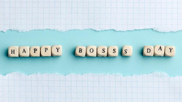 Płaskie ukształtowanie koncepcji dzień szczęśliwy szefa