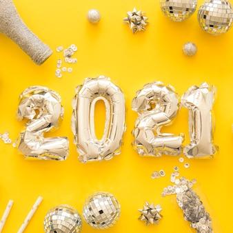 Płaskie ukształtowanie pięknej koncepcji nowego roku