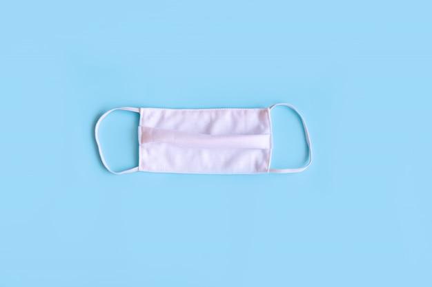 Płaskie ułożenie maski z tkaniny, maska z tkaniny salu do ochrony pm2,5 i koronawirusa (covid-19)