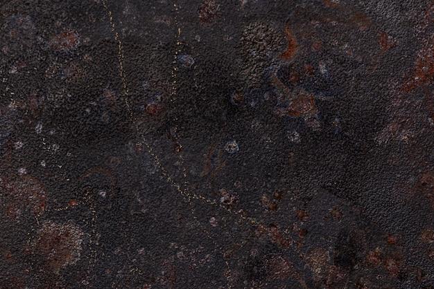 Płaskie ułożenie zardzewiałej metalowej powierzchni