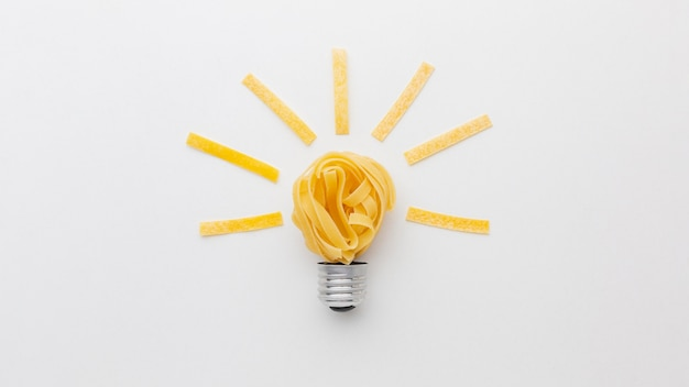 Płasko świeci abstrakcyjny układ innowacji