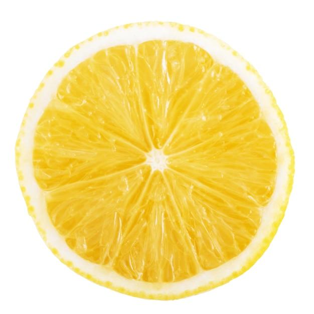 Plasterek cytryny na białym tle