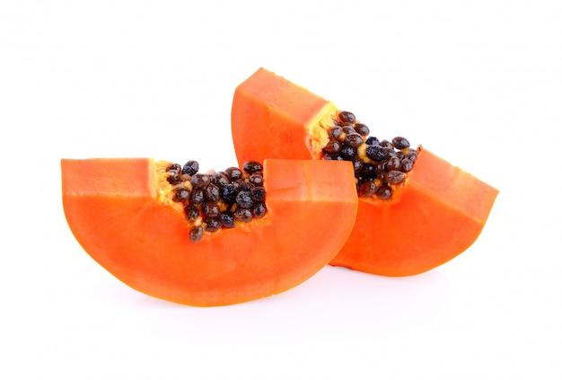 Plasterek papai na białej przestrzeni