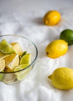 Plasterki cytryny i limonki
