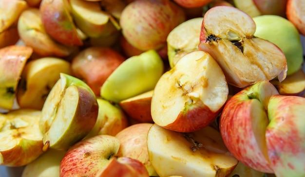Plasterki jabłek do przetwarzania soku, dżem