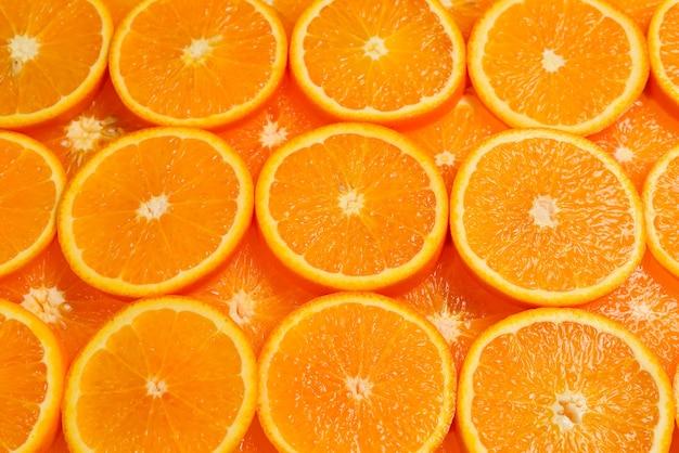 Plasterki pomarańczy jako tło