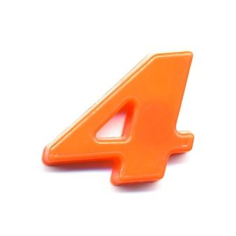 Plastikowa liczba magnetyczna 4