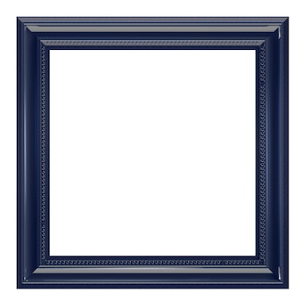 Plastikowa ramka na zdjęcia na białym tle