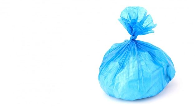 Plastikowa torba odizolowywająca na białym tle