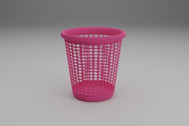 Plastikowy kosz na śmieci z gospodarstwa domowego