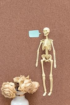 Plastikowy model ludzkiego szkieletu