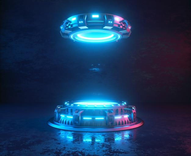 Platformy internetowe ze świecącymi neonami.