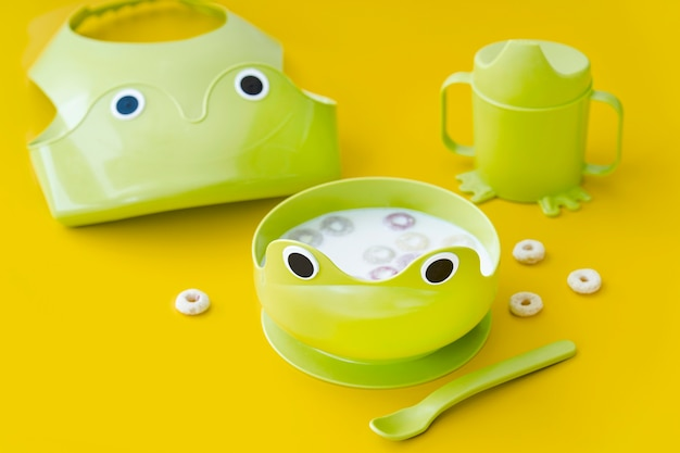 Płatki dla niemowląt z mlekiem